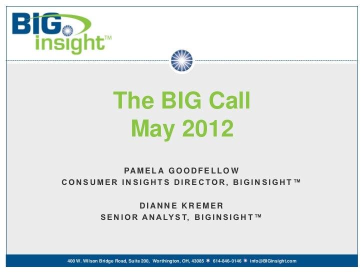 BIG Call - May 2012
