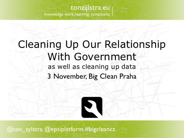 Cleaning up the relationship with our government