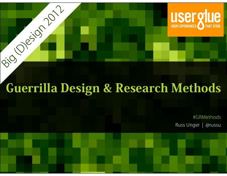 12            20          n       sig       )e  (D   gBi  Guerrilla Design & Research Methods                             ...