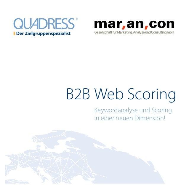 B2B Web Scoring Keywordanalyse und Scoring in einer neuen Dimension!