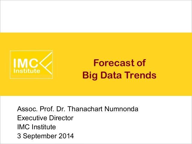 Forecast of Big Data Trends