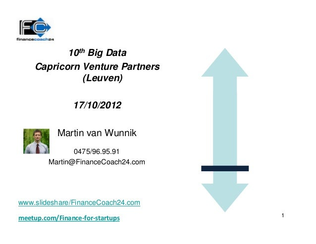10th Big Data    Capricorn Venture Partners              (Leuven)                17/10/2012           Martin van Wunnik   ...