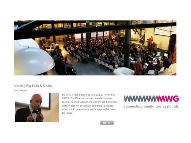 MWG Big Data & Media 20 november 2012