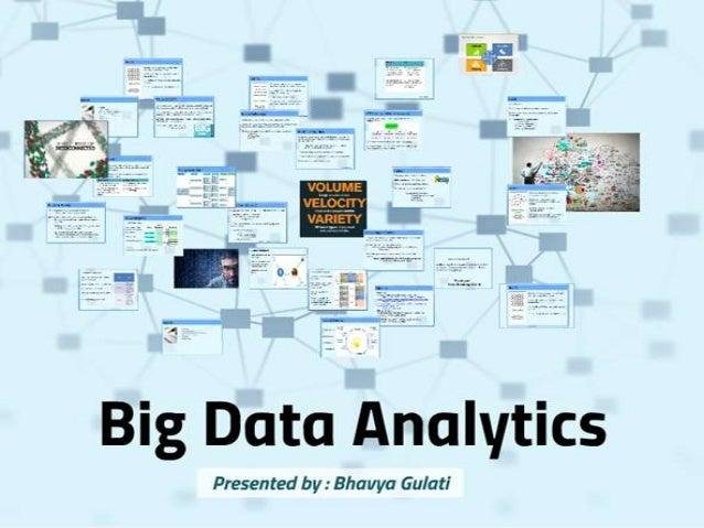Big data analytics: Technology's bleeding edge