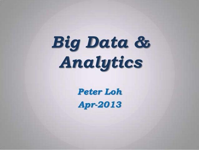 Big Data Analytics - Market & Business Intlligence
