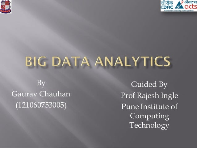 Big data analytics 1