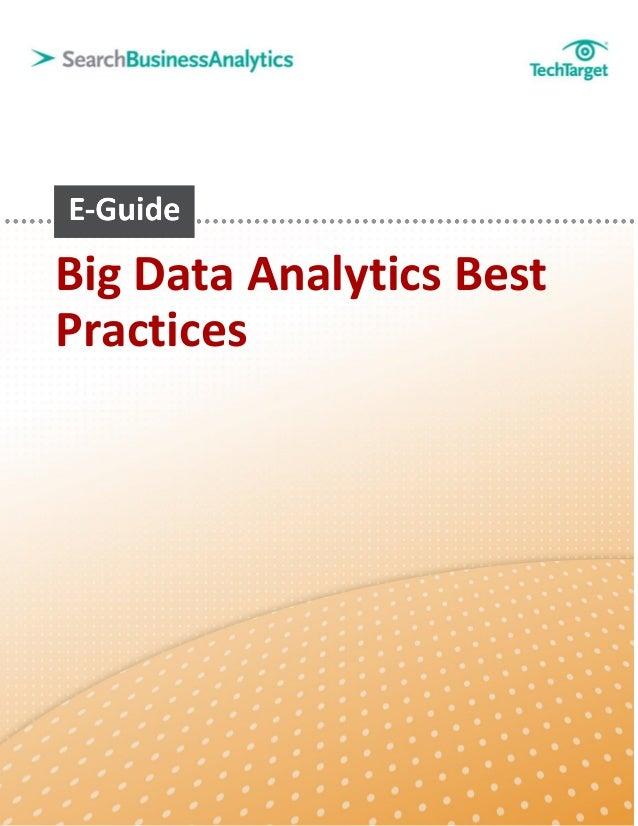 Big Data analytics best practices