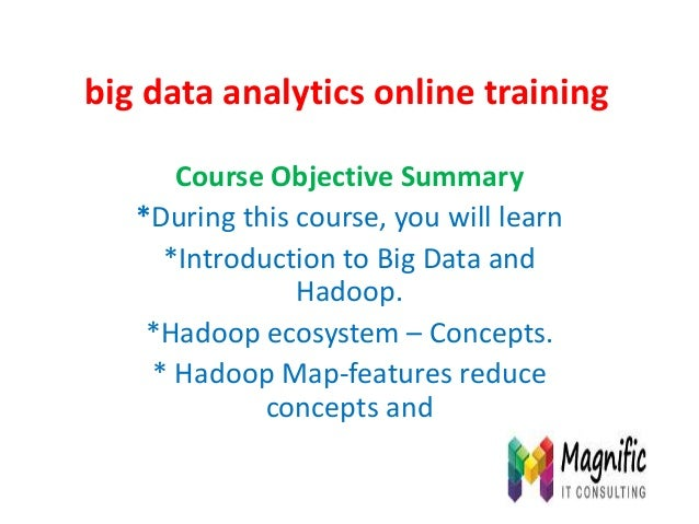 Big data analytics online training