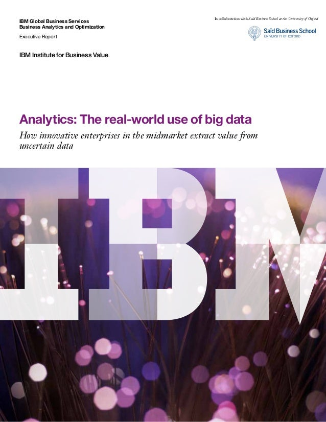 IBM Global Business Services Business Analytics and Optimization Executive Report IBM Institute for Business Value Analyti...