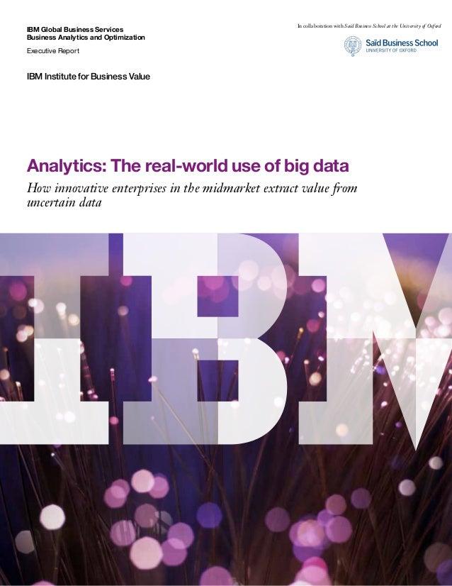 Annotated IBM Big Data Study