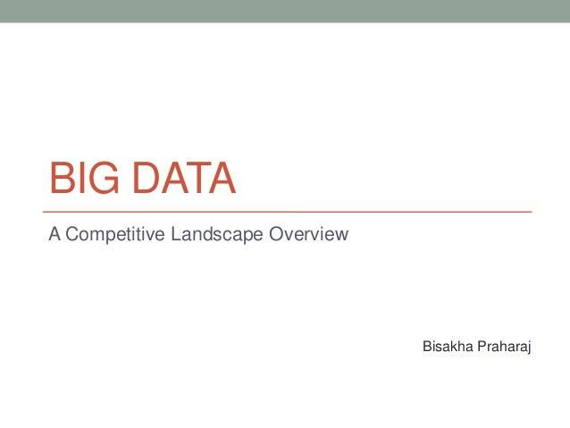 BIG DATA A Competitive Landscape Overview Bisakha Praharaj