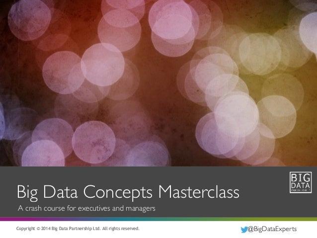 Big Data Concepts Masterclass