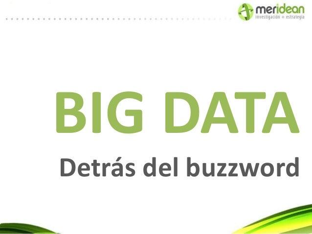 BIG DATADetrás del buzzword