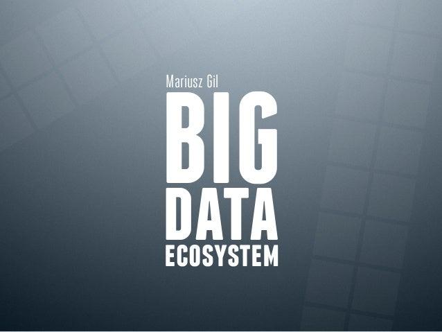 Mariusz Gil  BIG data ecosystem