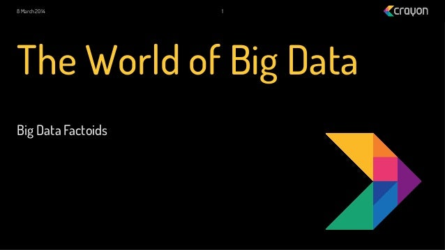 8 March 2014  1  The World of Big Data Big Data Factoids