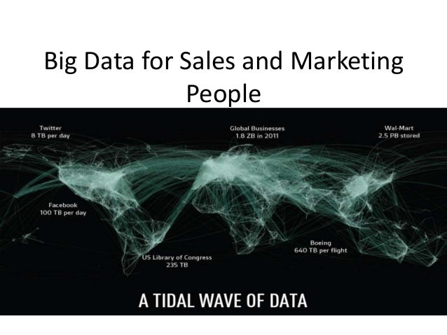 Big Data for Sales and Marketing People Fill the gaps companies need in their big data teams