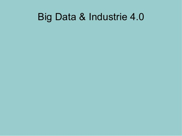 Big Data & Industrie 4.0