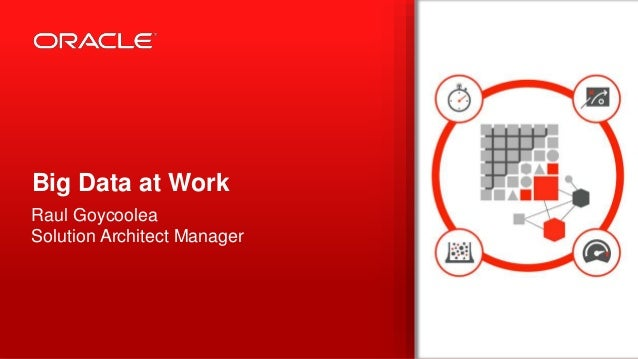 Copyright © 2013, Oracle and/or its affiliates. All rights reserved.1 Big Data at Work Raul Goycoolea Solution Architect M...
