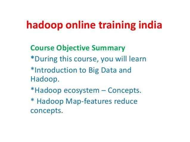 Big data online training india