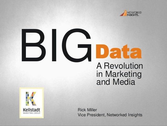DataBIGA Revolutionin Marketingand MediaRick MillerVice President, Networked Insights