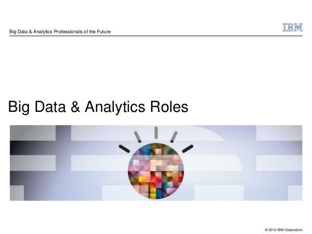 Big data roles overview july 2013