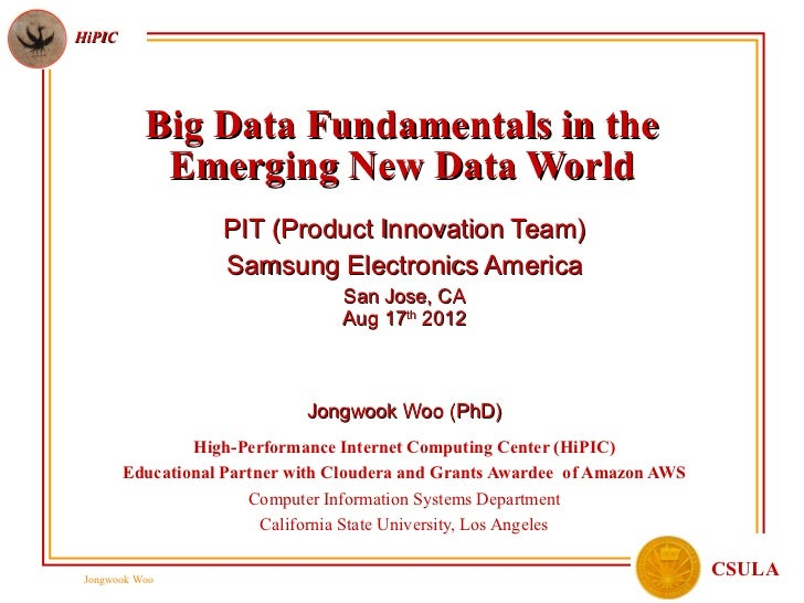 HiPIC           Big Data Fundamentals in the            Emerging New Data World                   PIT (Product Innovation ...