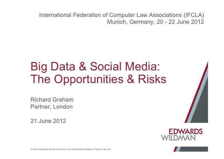 Big Data & Social Media: Opportunities & Risks