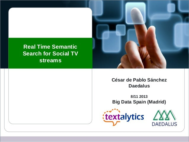 Real time semantic search engine for social tv streams