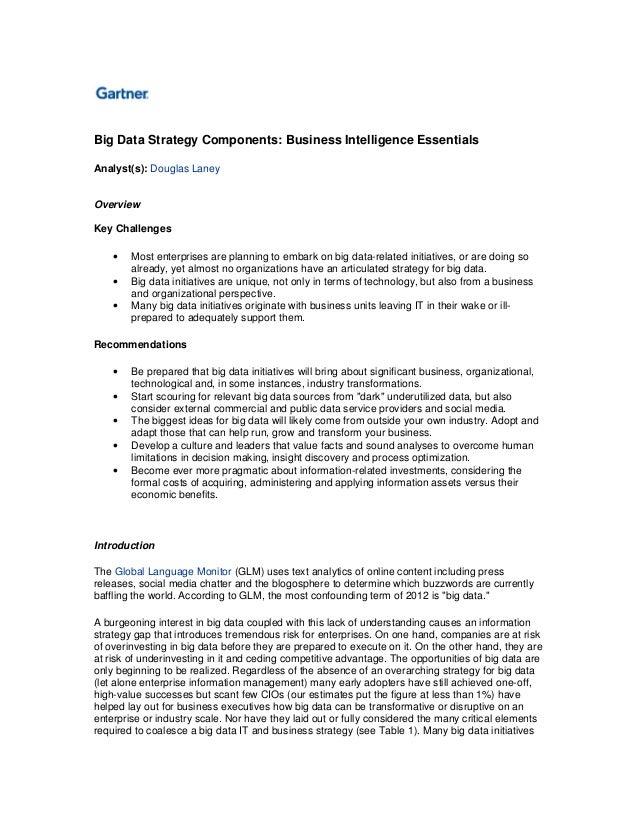 Big Data strategy components