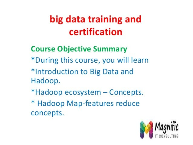 Big data training and certification
