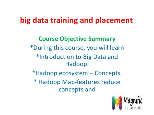 Big data training and placement