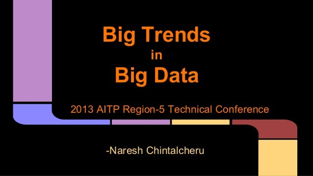 Big Trends in  Big Data 2013 AITP Region-5 Technical Conference  -Naresh Chintalcheru