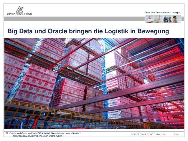 © OPITZ CONSULTING GmbH 2014 Seite 1Big Data und Oracle bringen die Logistik in Bewegung OPITZ CONSULTING Deutschland GmbH...