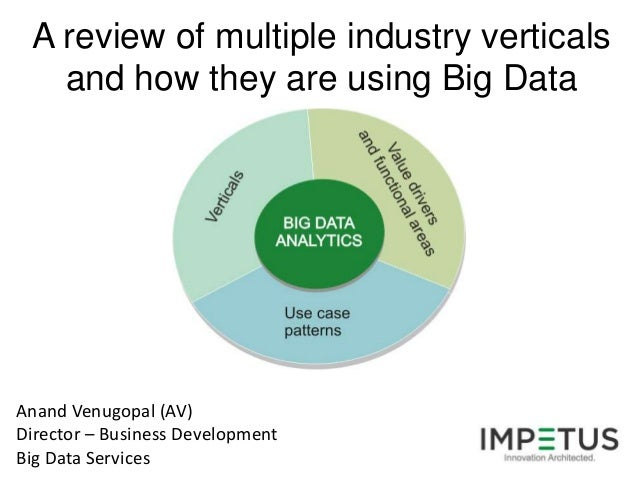 A review of multiple industry verticals   and how they are using Big DataAnand Venugopal (AV)Director – Business Developme...