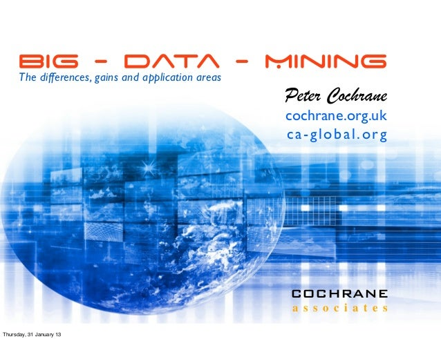 Big - Data - Mining      The differences, gains and application areas                                                     ...