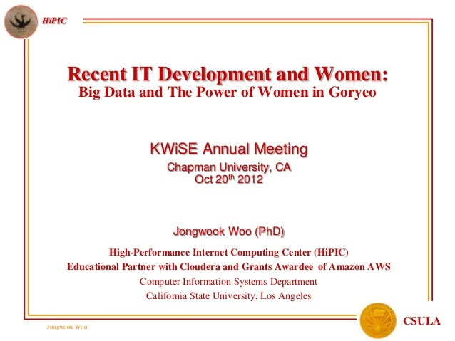 Recent IT Development and Women: Big Data and The Power of Women in Goryeo