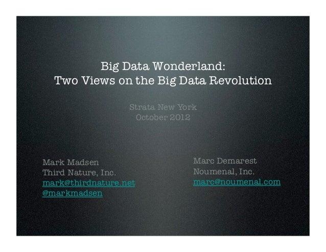 Big data wonderland