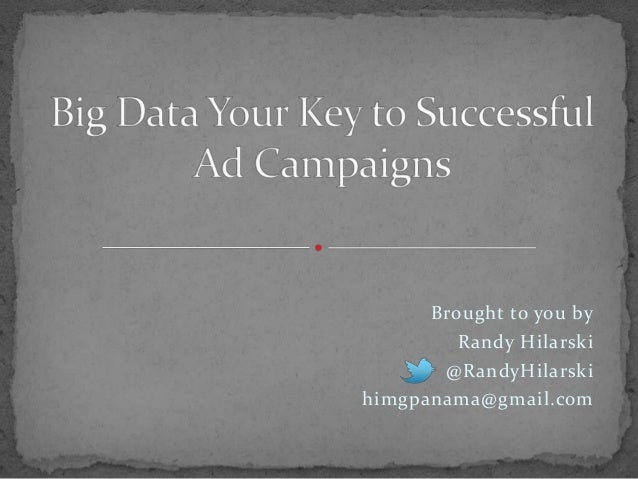 Big Data Your Key to Successful Digital Ad Campaigns
