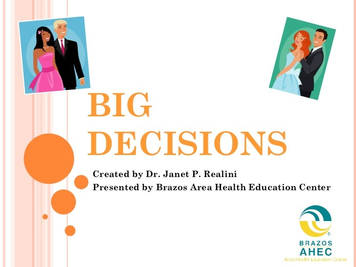 Big decisions 2010 overview