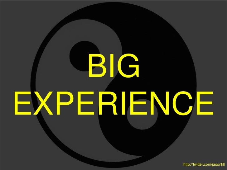 Big experience - A concept model for digital strategy & product management with UX and SXD