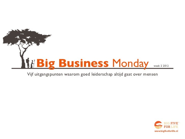 Big Five for Life Business Monday w02