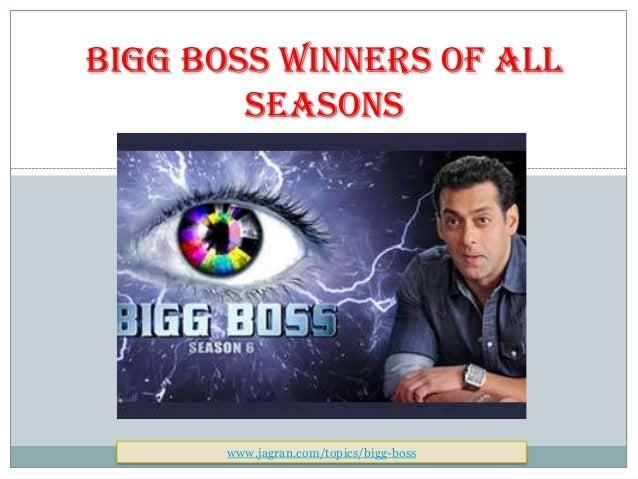 Bigg Boss All Season Winner Contestant