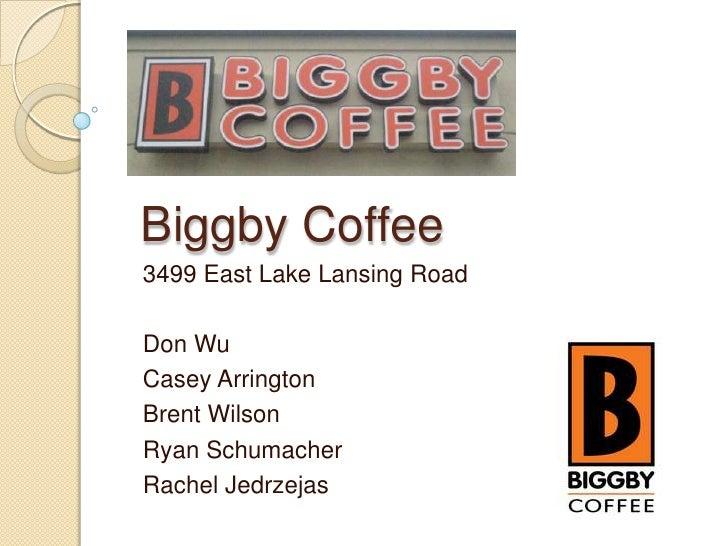 Biggby Coffee<br />3499 East Lake Lansing Road<br />Don Wu<br />Casey Arrington<br />Brent Wilson<br />Ryan Schumacher<br ...