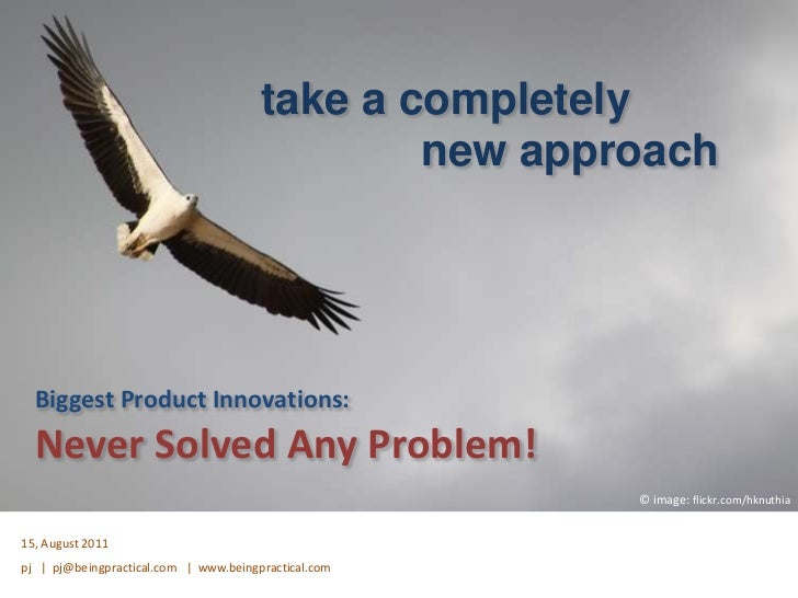Biggest Innovations Never Solved Any Problem
