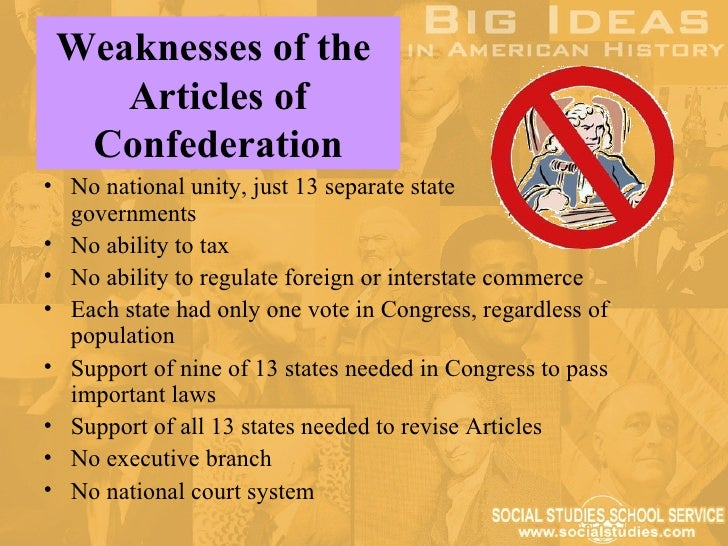 articles of confederation and regulate interstate trade Trade no provision to regulate interstate trade congress has right to regulate trade between states executive  articles of confederation vs author: sbarto.