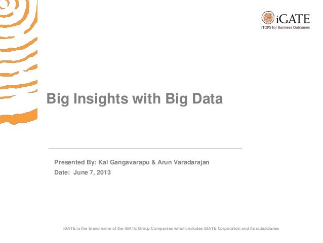 Big insights with big data