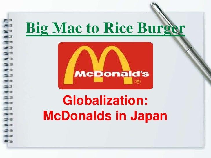 Big mac to rice burger