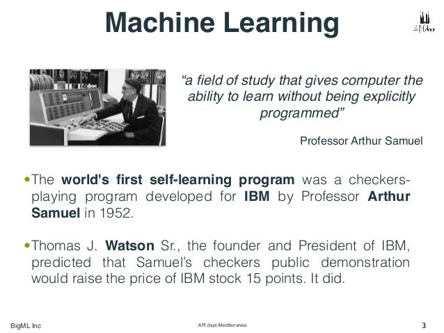 "Learning Machines Machine Learning ""a field"