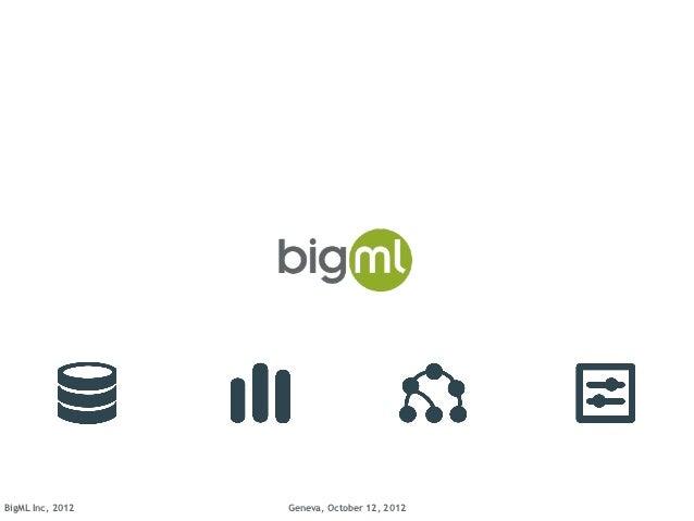 BigML Inc, 2012   Geneva, October 12, 2012