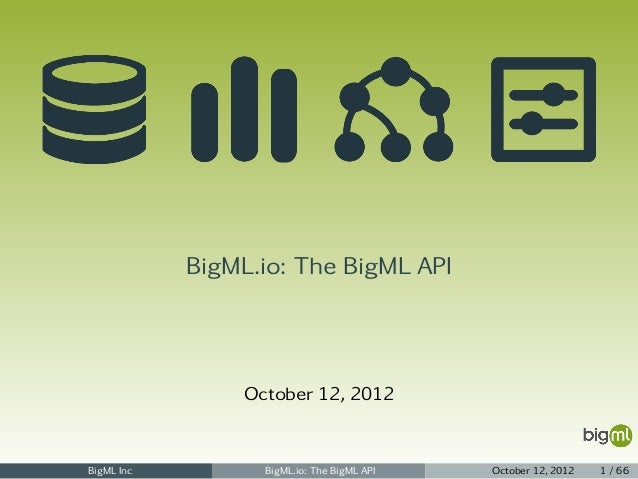 BigML.io - The BigML API